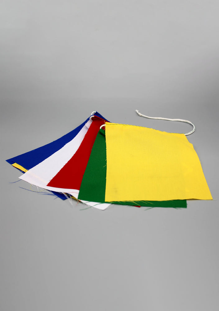 Tibetan Blank Cotton Prayer Flags, Set of 10 Flags