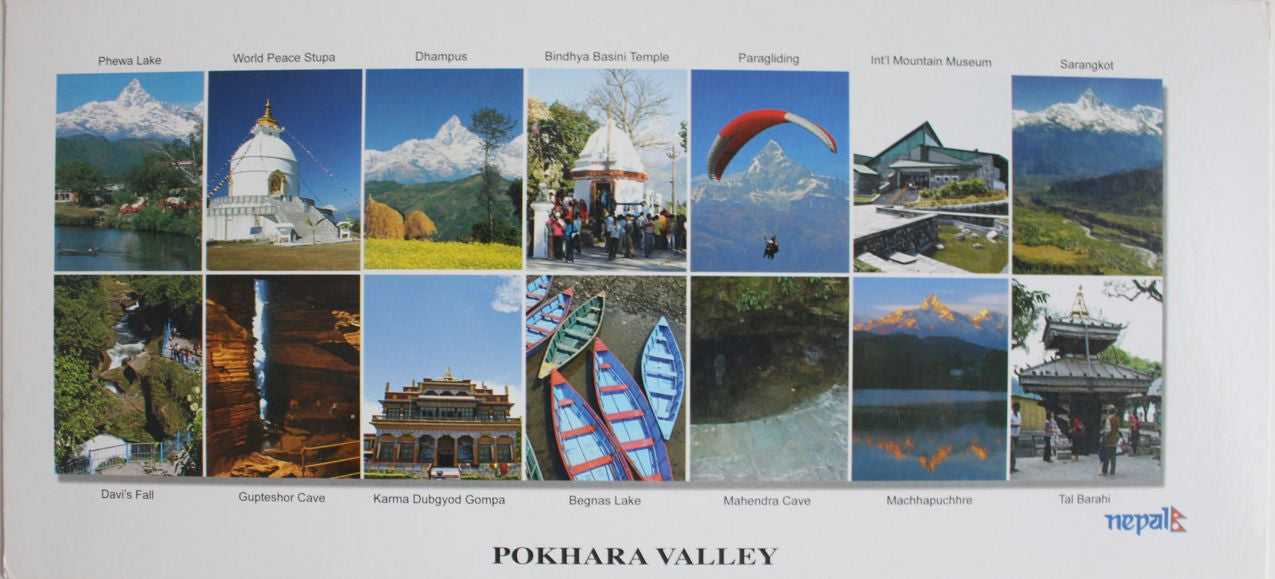 Majestic Pokhara Valley Panoramic Postcard Nepal - nepacrafts