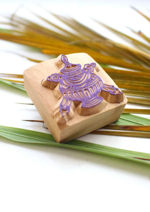 Auspicious Treasure Vase Wooden Stamp