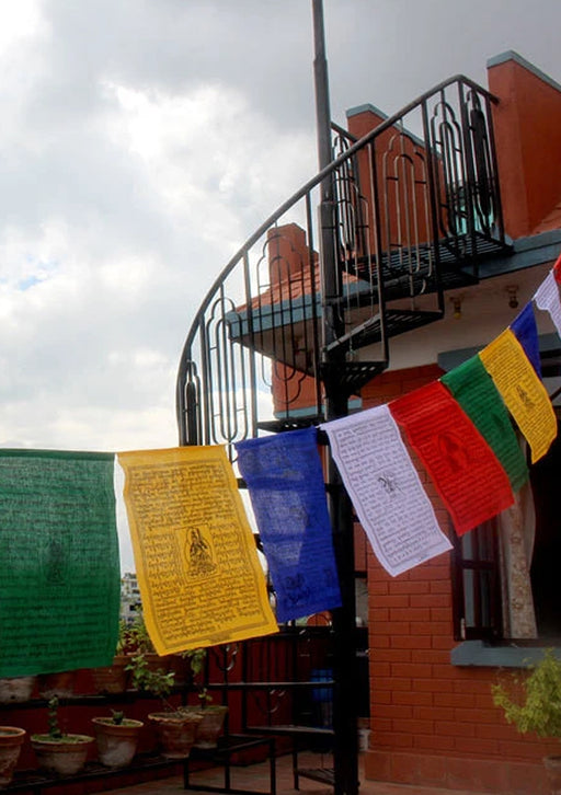 25 Large Cotton Tibetan Prayer Flags
