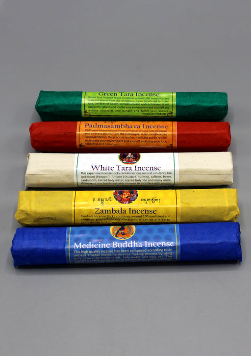 Five Packs of Tibetan Deities Incense