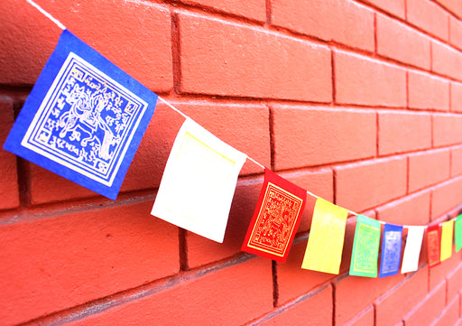 Mini Tibetan Windhorse Prayer Flag, Indoor Paper Prayer Flags - NepaCrafts