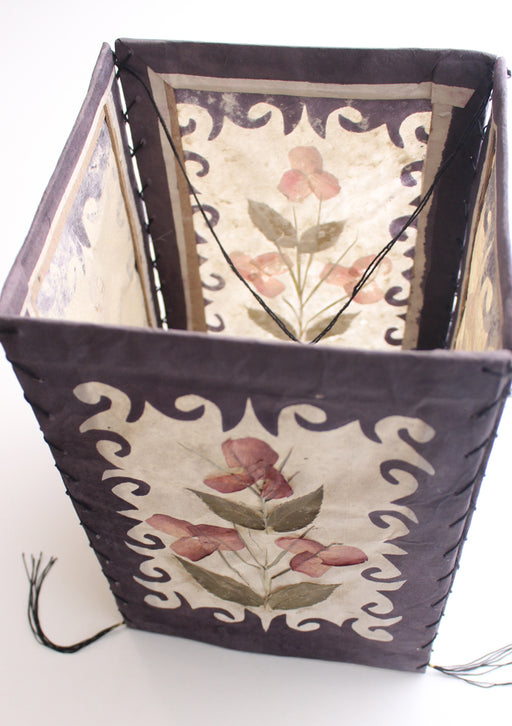 Real Dried Flower and Leaves Pressed Paper Ceiling Lamp Shade - nepacrafts