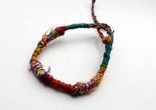 Colorful Hemp Braided Unisex Wrist Bracelet - nepacrafts
