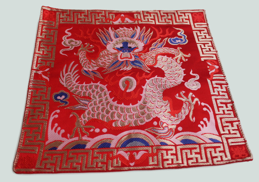 Dragon Embroidered Brocade Table Place Mat - nepacrafts