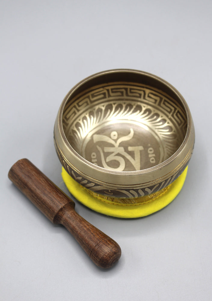 Tibetan Om Handmade Singing Bowl