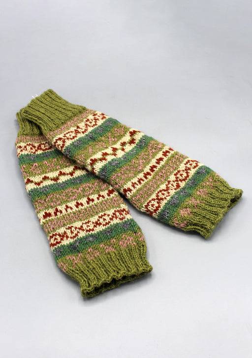 Green Woolen Knee High Legwarmers