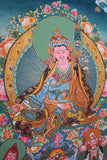 Traditional Buddhist Thangka of Guru Rinpoche 53X43cm - NepaCrafts