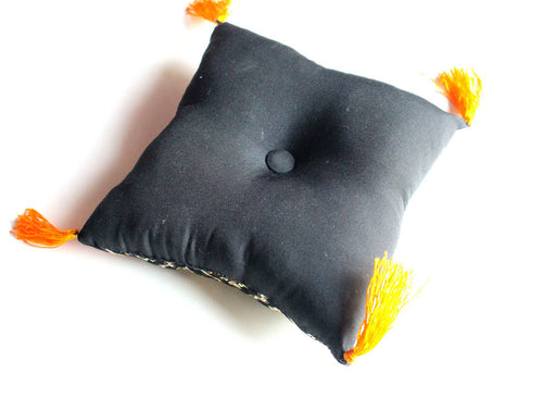 Black and Gold Singing Bowls Pillow - nepacrafts