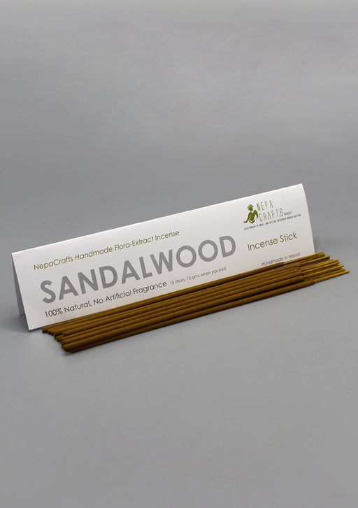 NepaCrafts Handmade Sandalwood Incense Sticks - nepacrafts