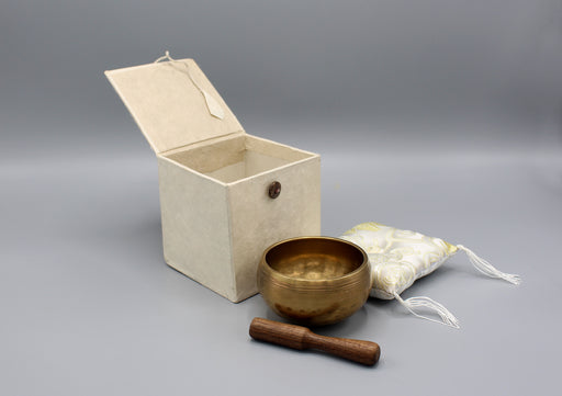 Hand Hammered Singing Bowl Gift Set - nepacrafts