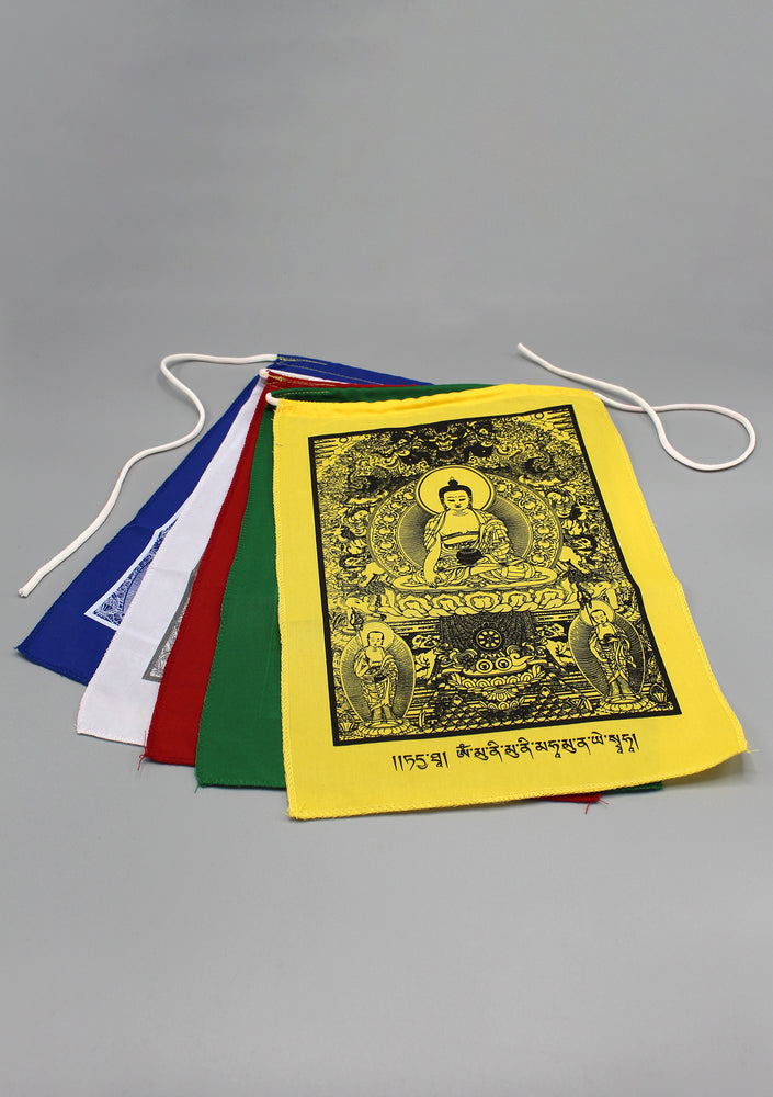 5 Sheets of Shakyamuni Buddha Tibetan Prayer Flags