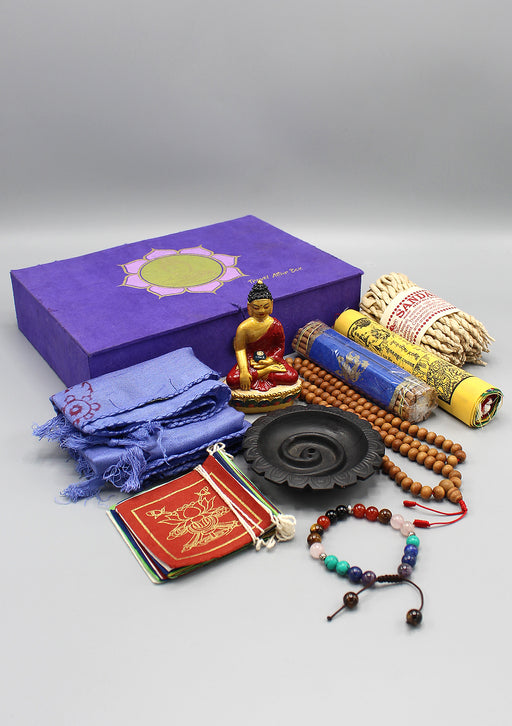 Traditional Tibetan Buddhist Travel Altar Christmas Gift Set