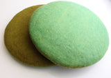 Olive and Light Green Color Double Sided Felt Seat Cover - NepaCrafts