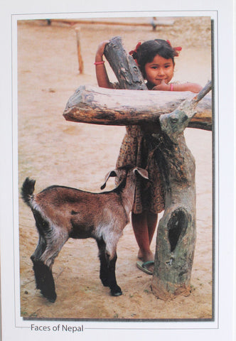 Faces of Nepal Postcard-Little Girl In A Happy Mood