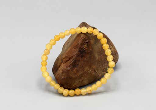 Amber Beads Stretchable Yoga Bracelet - nepacrafts