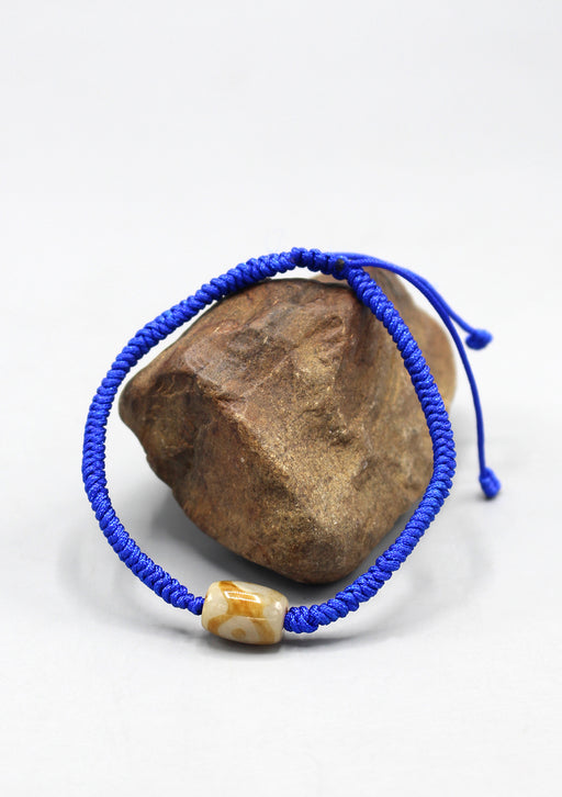 Lucky Knot Tibetan Bracelet with Dzi Bead Counter