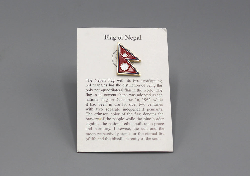 Nepal Flag Pin Badge - nepacrafts