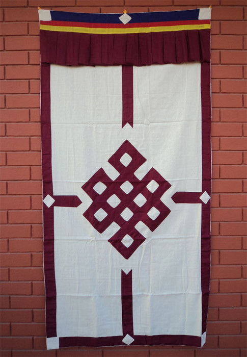 Endless Knot Tibetan Thick Cotton Door Curtain - nepacrafts