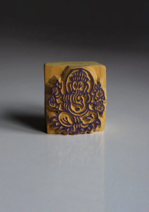 Lord Ganesh Mini Wooden Block Print