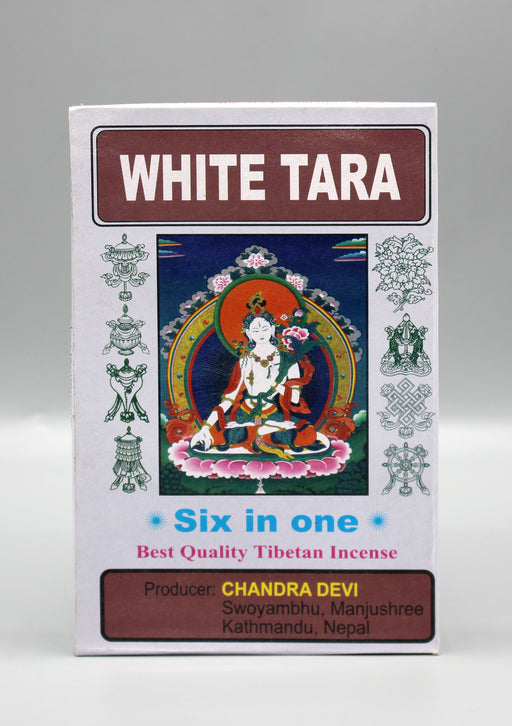 White Tara Six in One Tibetan Incense - nepacrafts