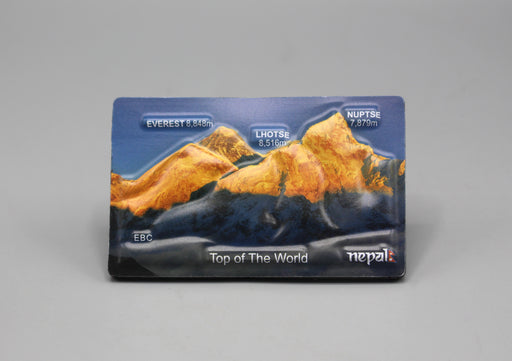 Top of the World Mount Everest Embossed Fridge Magnet - nepacrafts