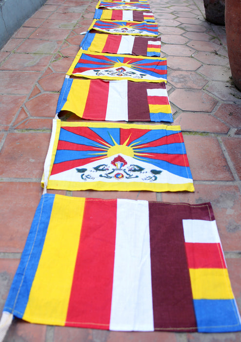 Tibetan Buddhist Cotton Prayer Flags - nepacrafts