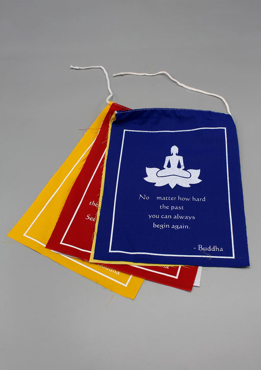Meaningful Buddha Quote Prayer Flags