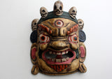 Handcarved Nepalese Wooden Bhairav Wall Hanging Mask
