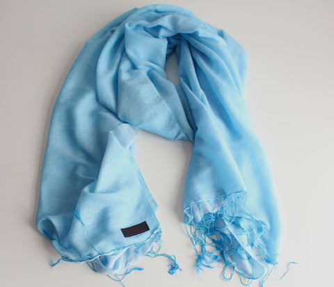 Silk Blended Water Pashmina Shawl-Niagara