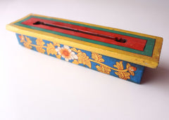 Hand Painted Medium Sized Wooden Incense Burner Box