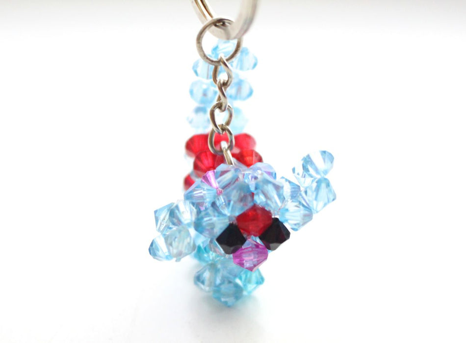 Fairly Traded Crocheted Puppy Resin Crystal Key chain - nepacrafts