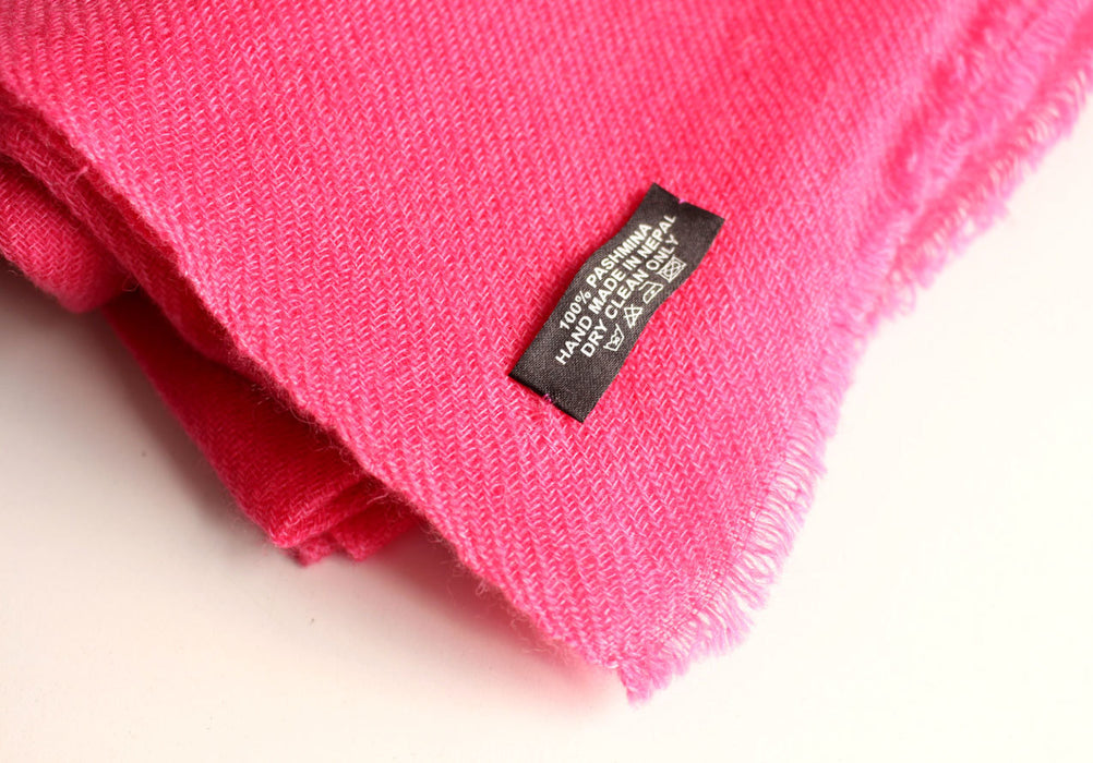 Pure Pashmina Shawl-Royal Pink - nepacrafts