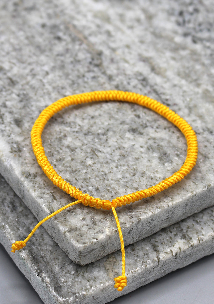 Decent Yellow Lucky Knots Protection Bracelet