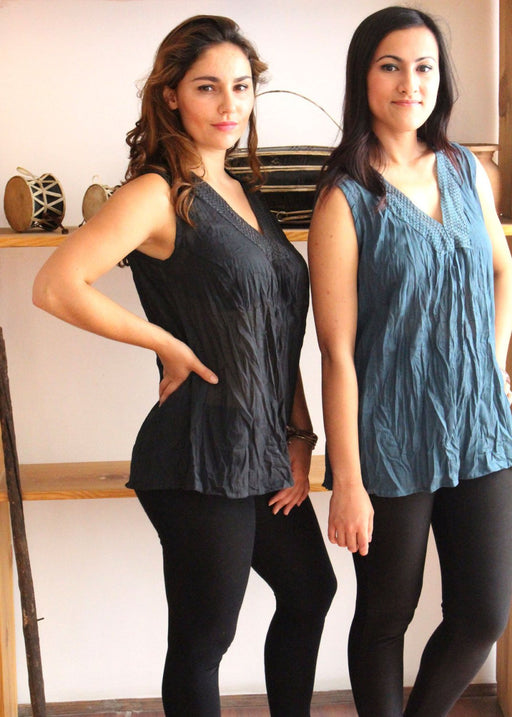 Soft Cotton Women's Summer Tops - nepacrafts