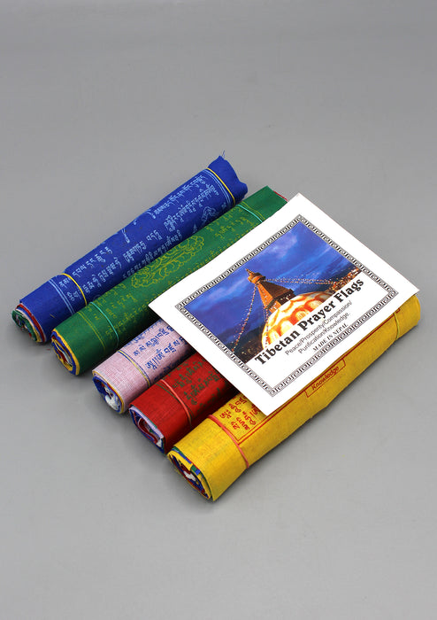 5 Rolls of 10 Flags Fine Cotton Tibetan Prayer Flags