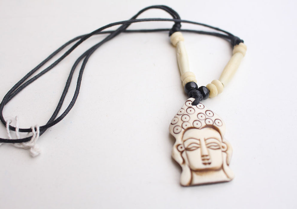 Handcrafted Buddha Pendant Necklace - nepacrafts