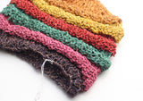Eco Friendly and Multicolor Hemp Beanie Hat with Strip - NepaCrafts