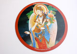Beautiful Padmapani Lokeswara Printed Round Mousepad Mat - NepaCrafts