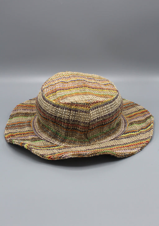 Multicolor Stylish Summer Hemp Hat - nepacrafts