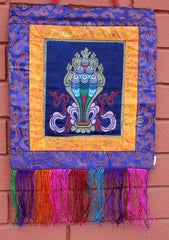 Auspicious Wish Fulfilling Jewel Wall Hanging - NepaCrafts