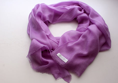 Bright Lavender Color 100% Pashmina Shawl from Nepal