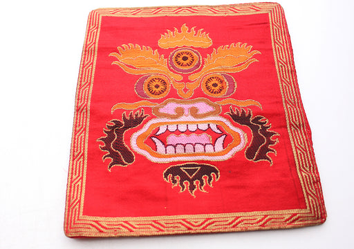 Hand Embroidered Mahakala Altar Cloth - nepacrafts