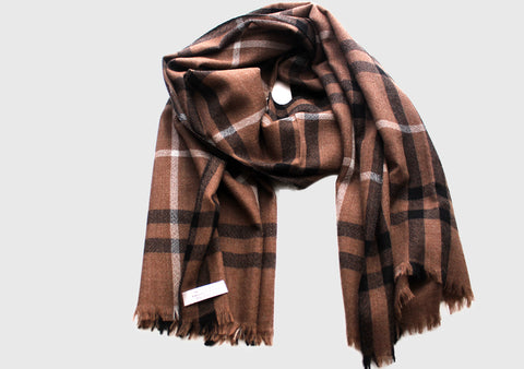 100% Exclusive Tartan Cashmere Stole from Nepal