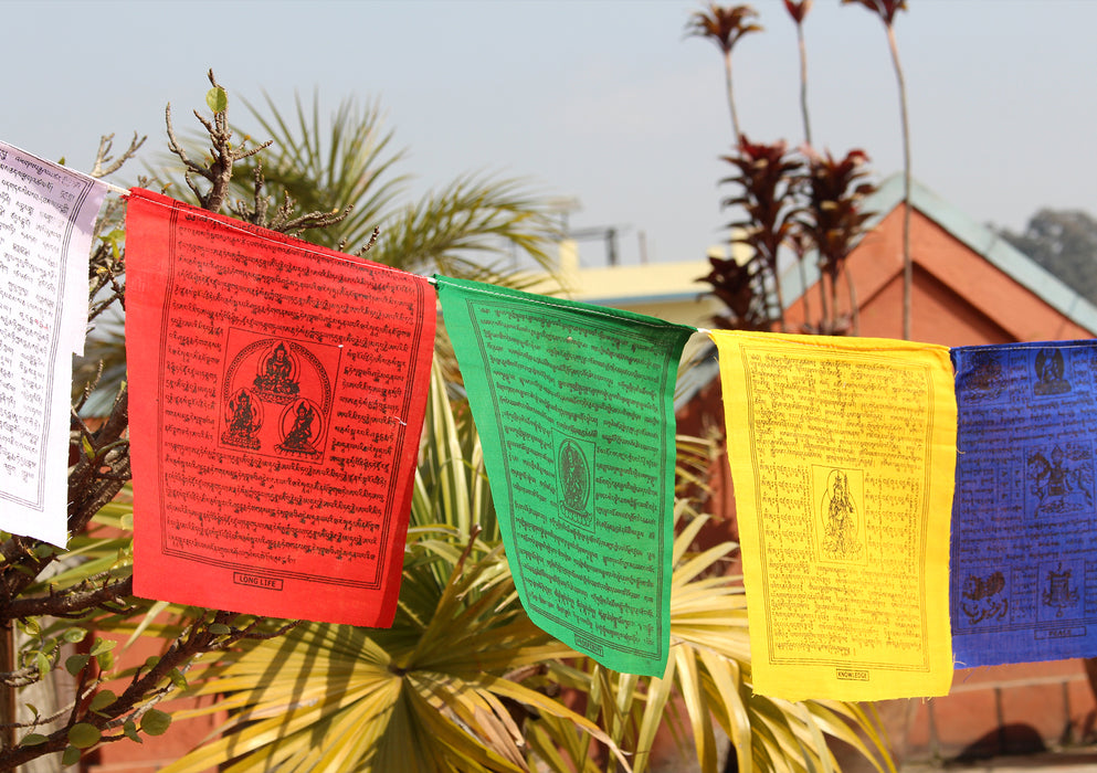 Traditional Cotton Tibetan Prayer Flags Set