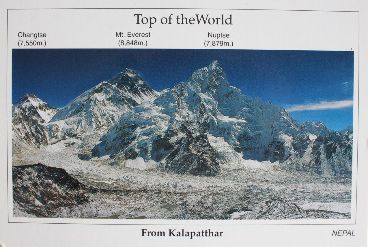 The Top of The World Mount Everest Postcard - nepacrafts