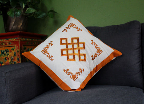 Endless Knot Cotton Pillow Covers