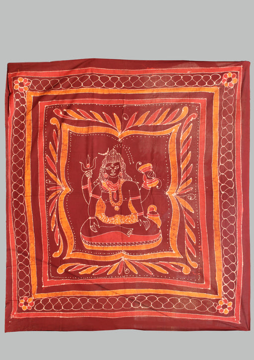 Lord Shiva Printed Cotton Wall Hanging Tapestry