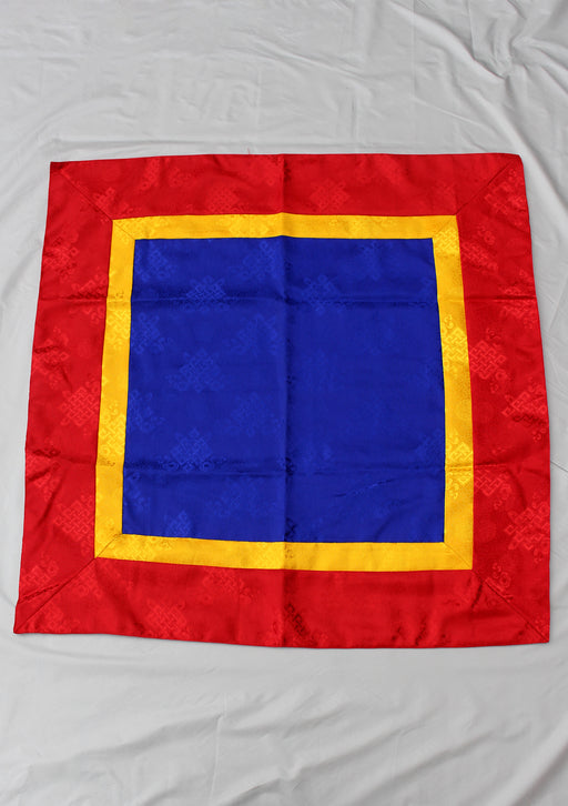 Blue Endless Knot Buddhist Altar Cloth - nepacrafts