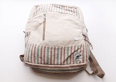 Handmade 100% Natural and Eco Friendly Hemp Backpack with Laptop Sleeve